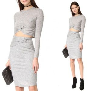 16a9477db265 Kendall   Kylie Knotted Crop Top + Pencil Skirt M